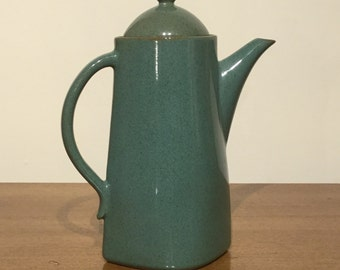 Vintage Large Cadet Blue Pottery Coffee / Teapot Made In Japan