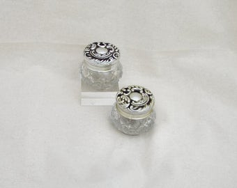 Vintage Avon Glass Jar with Silvertone Lid - Pagan - witchcraft - wicca - vintage - decorative - gift