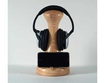 Wooden phone, smartphone, headphone Stand, ideal gift