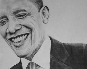 obama drawing print