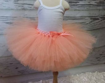 Free Shipping Peach  Fluffy Tutu Skirt-Baby Tutu Skirt-infant Tutu Skirt-photo Prop