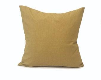 Plain Yellow Cushion- Mustard Yellow- Mustard Yellow Pillow- Plain Pillows- Throw Pillow- Linen Cushion- Cushion Cover- Colourful Cushion