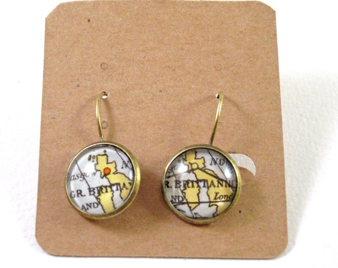 World map earring - Europe variations