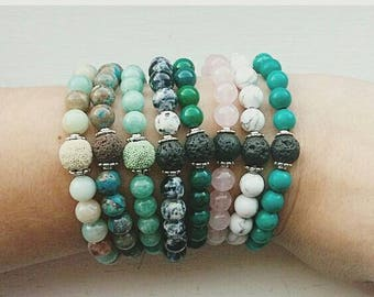 Essential oil diffuser bracelets- aromatherapy jewelry- aromatherapy bracelet- stone bracelets- easter gift- gift under 20- diffuser jewelry