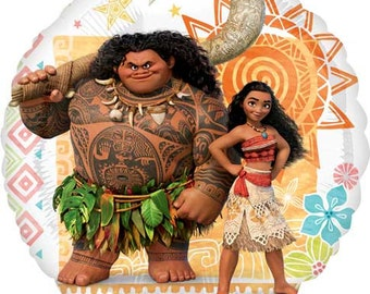 "Moana Balloon- 17"" Foil Balloon- Moana Birthday Party- Birthday Balloon"