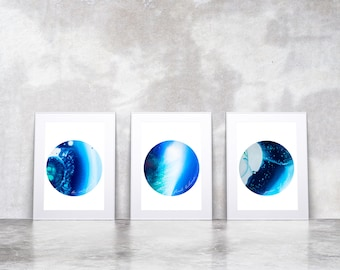 Find Balance, Be Inspired & Peace of Mind  - Art Quotes - Set of Three