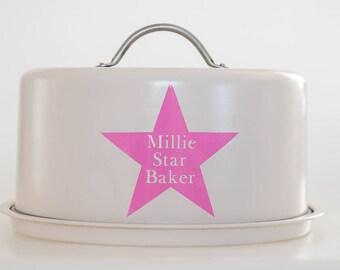 Personalised Cake Tin / Star Baker
