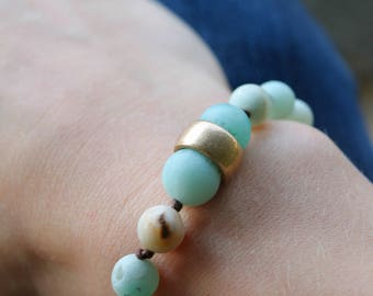 Amazonite Matte adjustable bracelet