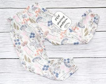High waisted pants pattern PDF, sewing patterns, girls sewing patterns