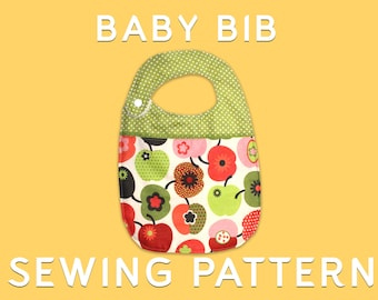 BABY BIB - Sewing pattern+tutorial