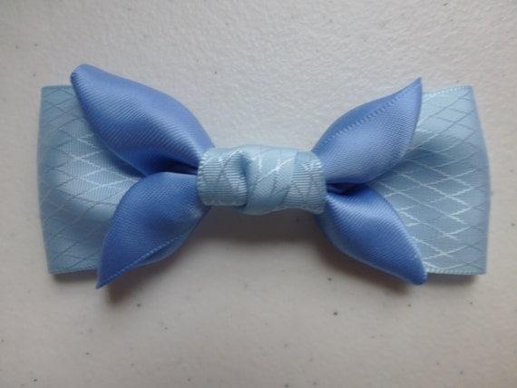 Beautiful Blue Flower Satin Hair Bows Hair Accessories Hair Clip Hair Pins Hair Stick