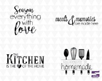 Kitchen Decor 4 Bundle - SVG, PNG, JPEG, cricut download, kitchen decor, kitchen word art