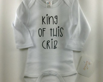 Adorable Baby Clothes-Cute Baby Clothes- Jungle Baby Clothes - Custom Baby Clothes -Personalized Baby Clothes-King/Queen of this Crib Design