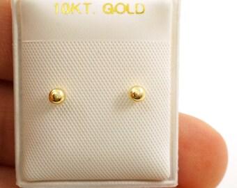 10k Gold Screw back Little Girl Earrings - 2.5mm