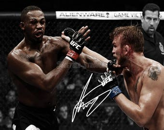 Alexander Gustafsson pre signed photo print poster - 12x8 inches (30cm x 20cm) - Superb quality