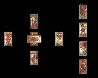 Tarot card reading Celtic cross