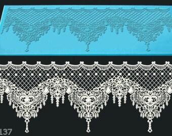 Treadmill Silicone lace Xasara 310 x 120 mm Cake Design
