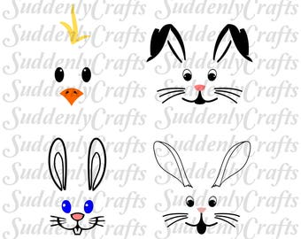 Easter Faces SVG