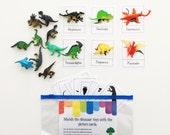 Dinosaur Busy Bag - Dinosaur Toys - Preschool Activities - Toddler Gift - Activity Bag - Toddler Travel - Activity Kit - Broccoli