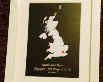 Engagement/Wedding Framed Keepsake Gift