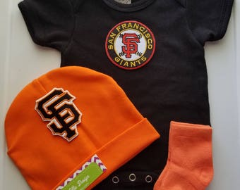 san francisco giants baby outfit-sf giants for baby-san francisco giants baby boy shower gift/baby san fran giants/san fran giants baby