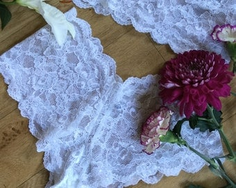 bridal white delicate floral  lace french knicker