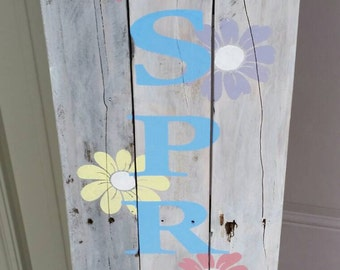 Hello Spring Pallet sign