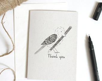 Thank You Bird Eco-friendly A6 Blank Card