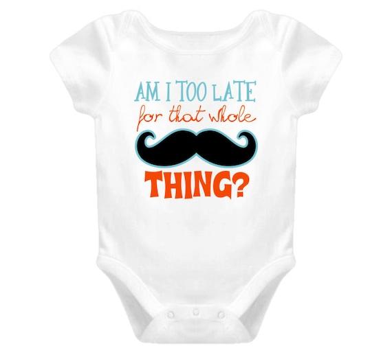 Funny Mustache Baby Bodysuit, Cute Baby Bodysuit, Funny Baby Shirt, Baby Bodysuit, Baby Clothes, Unisex Baby Bodysuit, Baby Gifts. Cute Baby