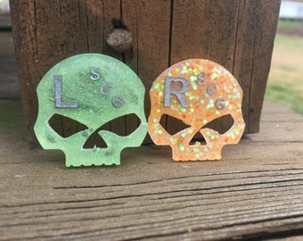 NEON Glitter**Skull X-Ray Markers, made to order, choose colors!