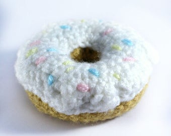 Crocheted Donut - Play Food - Educational toys- Learning - Preschool - Teething - Toddler- Children - Nursery- Games -