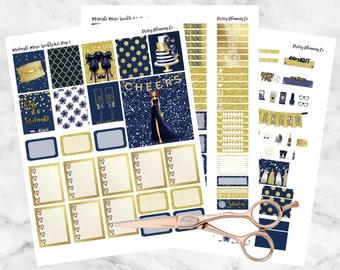 Midnight Magic Weekly Kit Printable Student Planner Stickers- Erin Condren Planner Stickers- Instant Download