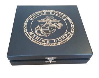 US Marine Corps - USMC - EGA Keepsake Box - Marine boot camp graduation gift