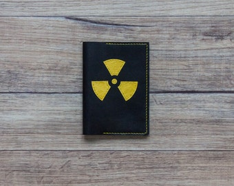 Passport Cover - Leather Passport Holder- Radiation Passport Cover