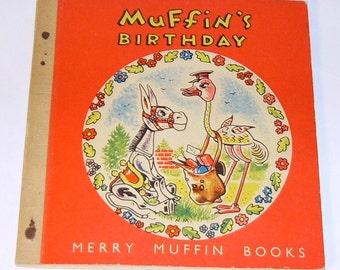 1954 Muffin the Mule Book Muffin's Birthday