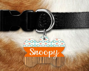 Tribal Pet Tag, Dog ID Tag, Dog Name Tag, Dog Collar Tag, Custom Dog Tag, Dog Tag for Dogs, Double sided Tag, Dog Tags, Personalized