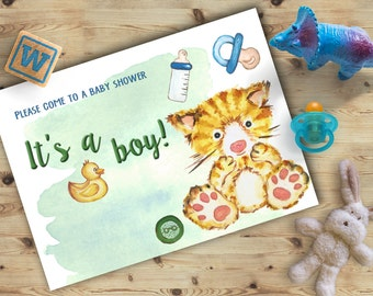 Baby Shower Invitation, It's a boy baby shower invitation, Baby shower Invitation Boy