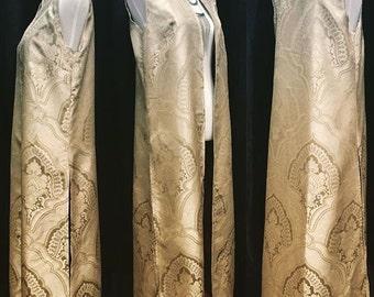 Full length vest -brocade