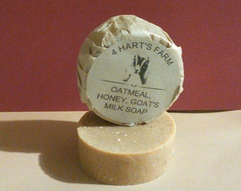 All Natural Unscented Oatmeal Honey Goats Milk Soap
