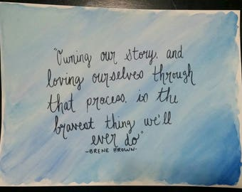 Watercolor Quote Painting #2