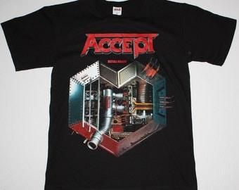 Accept Metal Heart black t shirt