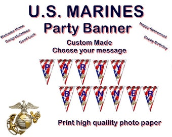 US Marines Party Banner