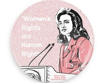 Hillary Clinton Women's Rights Are Human Rights button