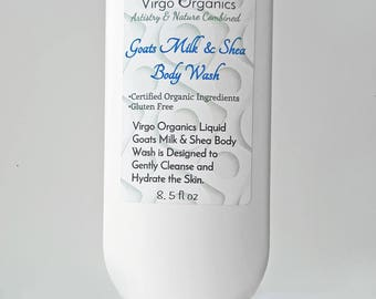 Liquid Goats Milk & Shea Body Wash / Organic / Gentle