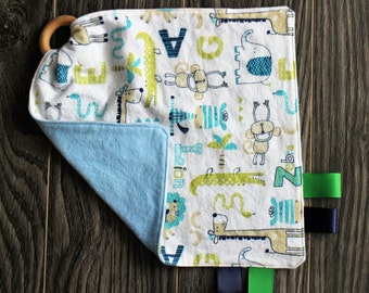 Teething blanket: At the zoo