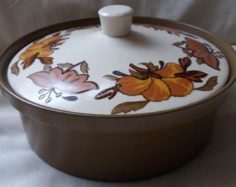 Royal Worcester Palissey casserole serving dish, Vintage, retro