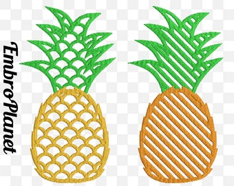 Pattern Pineapples - Design for Embroidery Machine Digital Graphic Filled Stitch Instant Download Commercial Use pineapple tropical File 67e
