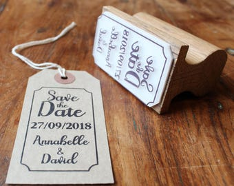 Custom Save the Date Stamp