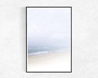 Beach Art PRINT, Large Poster, Modern Minimalist, Coastal Print, Beach Photography, Seascape Photography, Beach House Wall Art