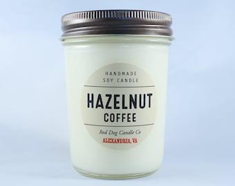 Hazelnut Coffee Handmade Soy Candle | Handmade Soy Candle | Candle Gift | Coffee Candle